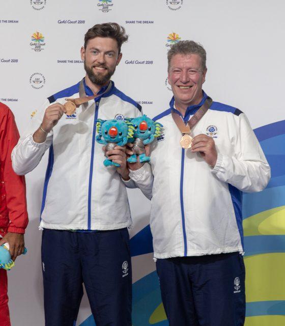 Sandy Walker and Ian Shaw shooting bronze