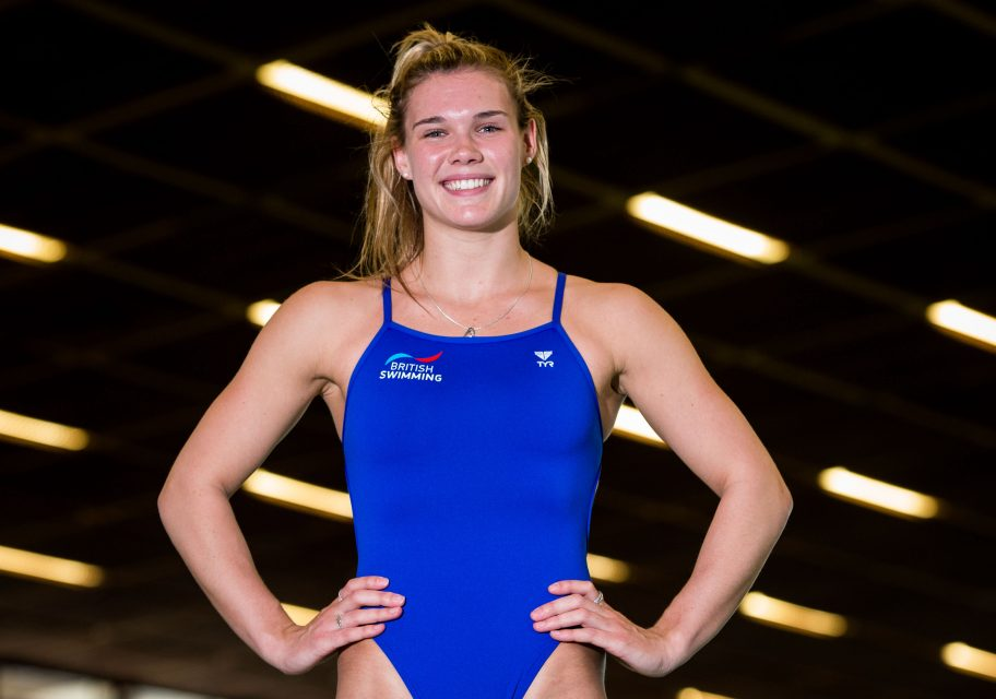 Grace Reid diving European Championships